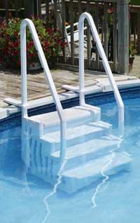 Above Ground Pool Steps the pool is in – choosing a ladder | wt landscape