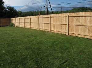 A Stockade Fence (or Privacy Fence) Is Made Of Wood. The Most Common Types  Of Wood These Fences Are Made Of Are Pine, Cedar Or Fir.
